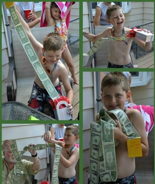 Как подарить деньги ребенку (подборка)