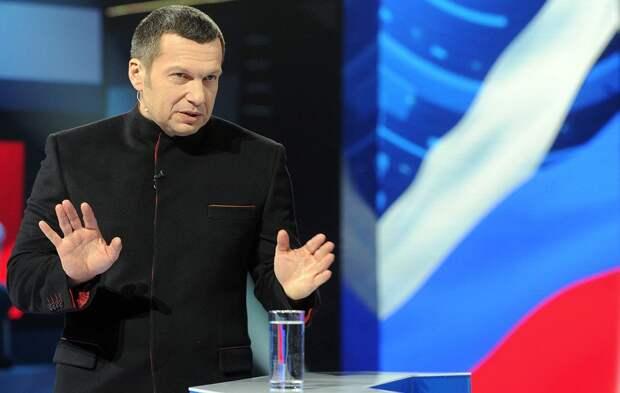 Соловьев бурно поспорил с украинским экспертом Вакаровым о важности Украины в политике России
