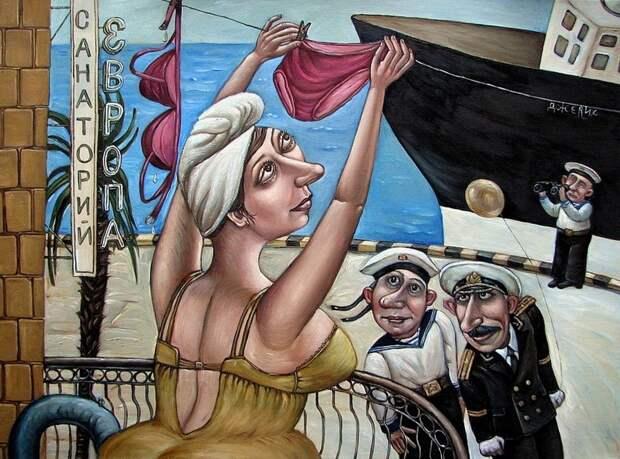 AngelaJerich11 Путешествие в СССР: картины художницы Анжелы Джерих