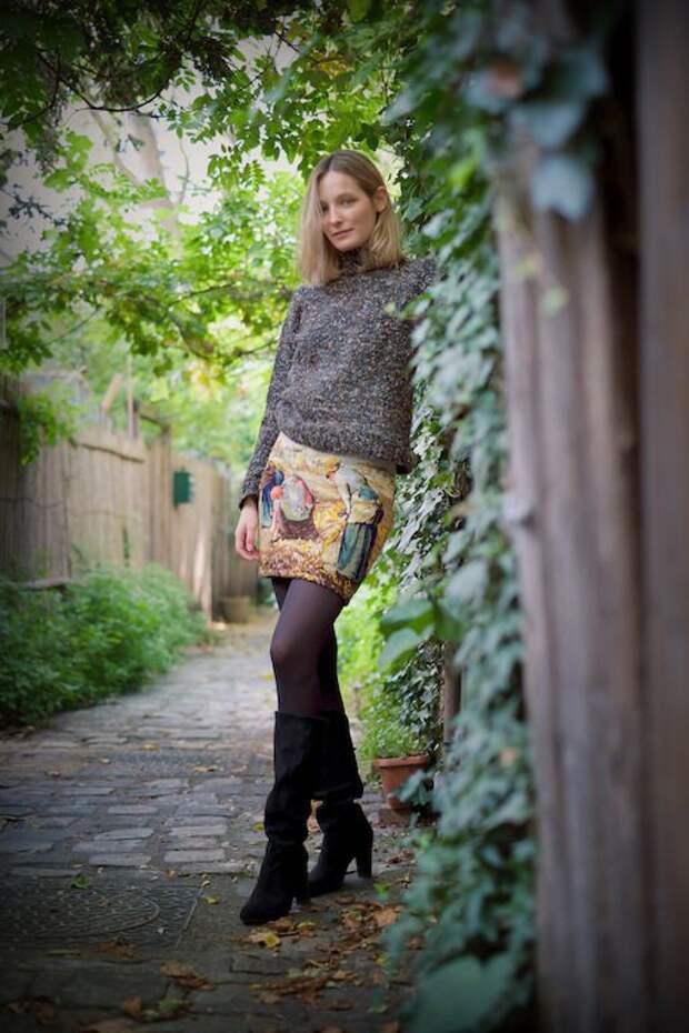 Как носить юбку  из гобелена (трафик)