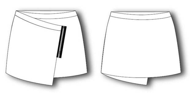 Выкройка кожаной мини-юбки