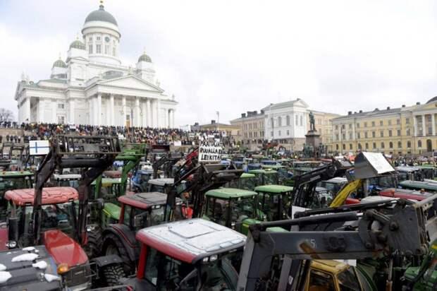 Финские фермеры требуют нормализации отношений с Россией