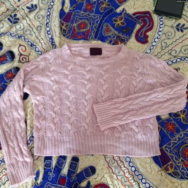 Реанимация растянутого свитера