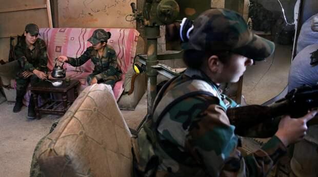 Женский батальон на войне в Сирии