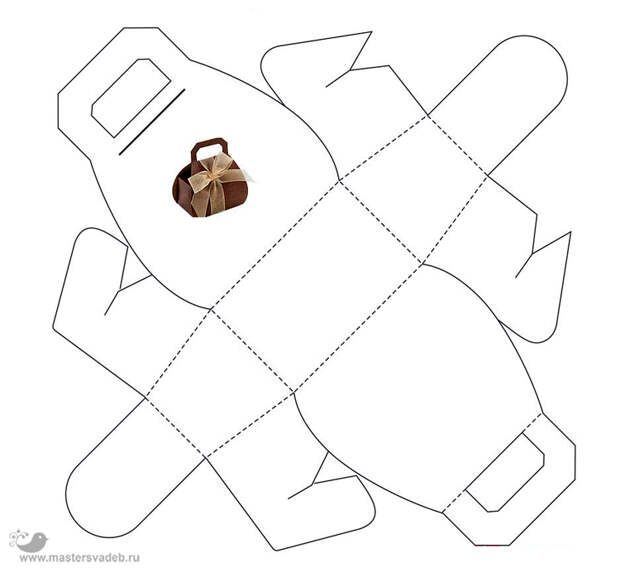 бонбоньерка сумочка своими руками