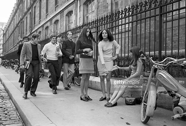 Как обходили запреты на мини-юбки в школах, Франция, 1967