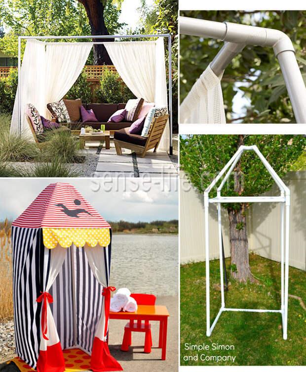 Разборные уличные палатки и шатры из пластиковых труб