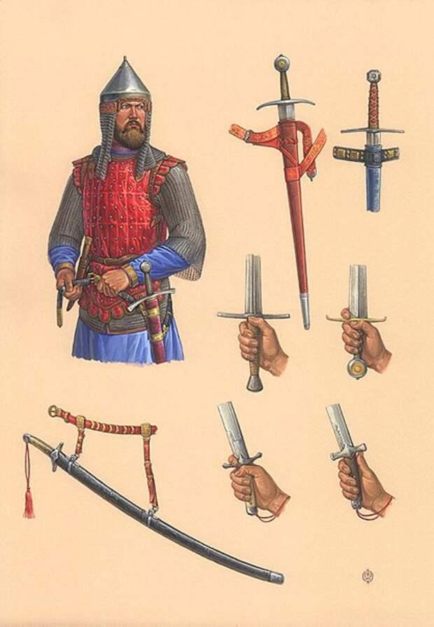 Рисунки-реконструкции О.В.Федорова. Эпоха Куликовской битвы.