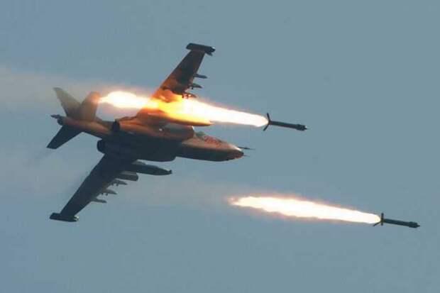 Опубликованы кадры отражения ВКС РФ атаки боевиков в Сирии