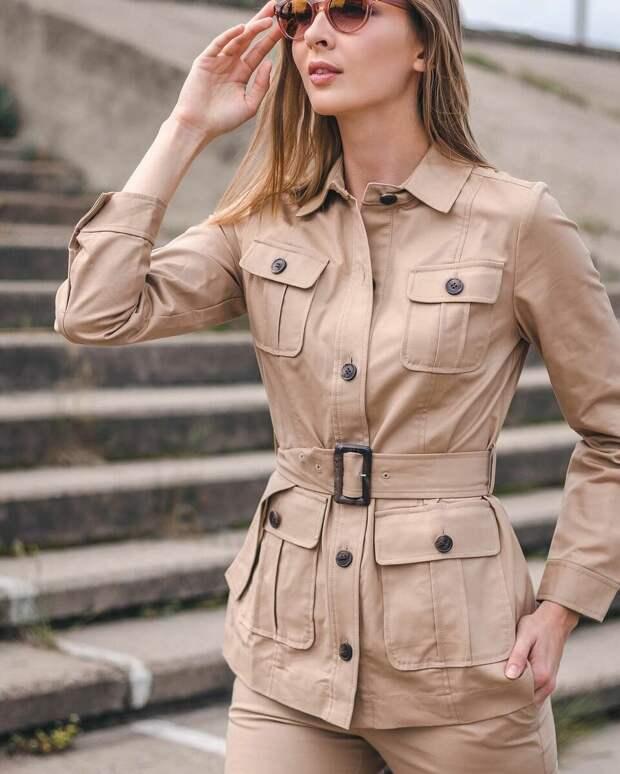 С накладными карманами грудь кажется больше. /Фото: i.pinimg.com