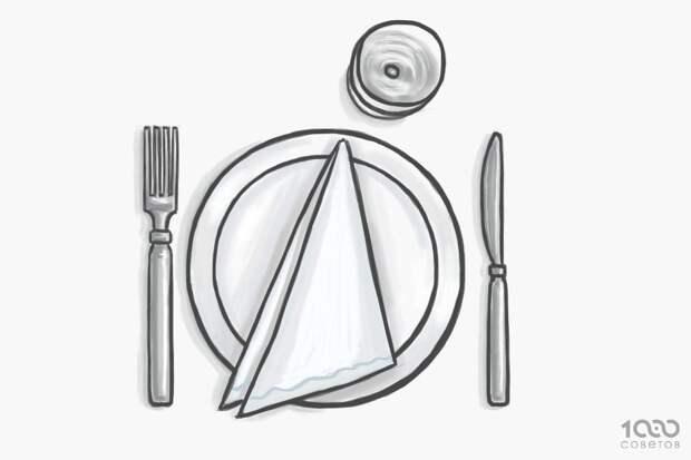 Язык столовых приборов: знаки официанту