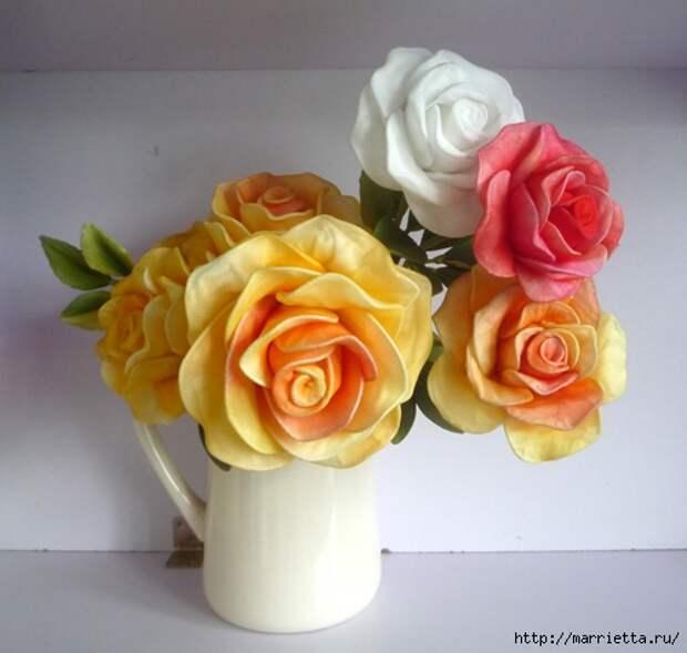 Розы из капрона. Красивые идеи и мастер-класс (57) (500x475, 128Kb)