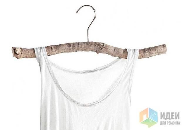 Идеи для хранения одежды, вешалка в эко-стиле