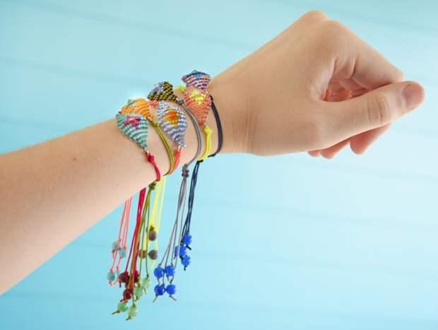 Необычные браслеты из бисера (Diy)