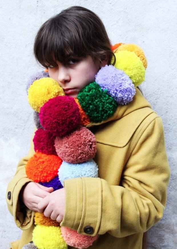 Очень теплый шарф