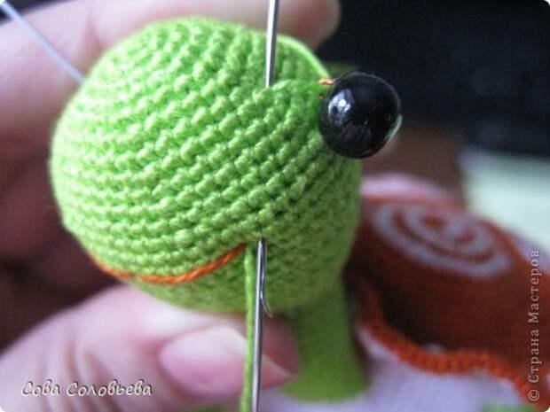 Игрушка Мастер-класс Вязание крючком изготовление Черепашки Пряжа фото 27