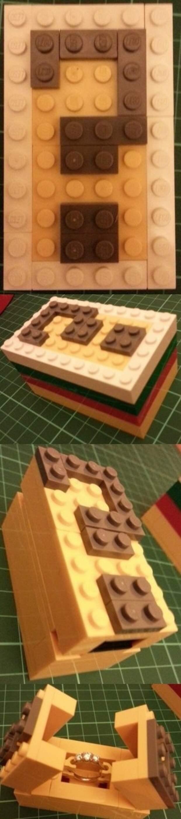 LEGO -предложение руки и сердца