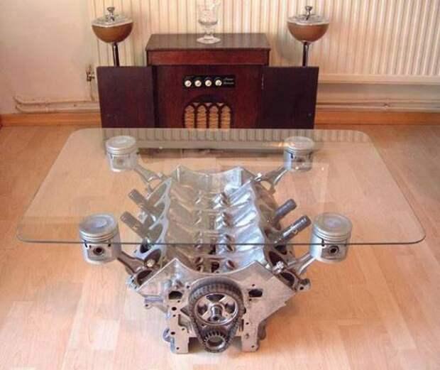 Гостевой столик креатив, металлолом