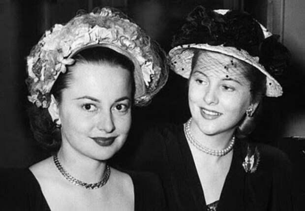 История соперничества двух сестер в Голливуде