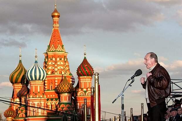 Выступление Владимира Путина на Красной Площади на празднике Победы, 9 мая 2007 года