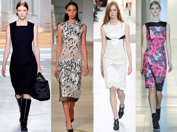 С чем и как можно носить платье-футляр
