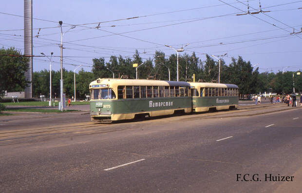 Фотографии трамваев в разных городах СССР (1985-1990 гг)