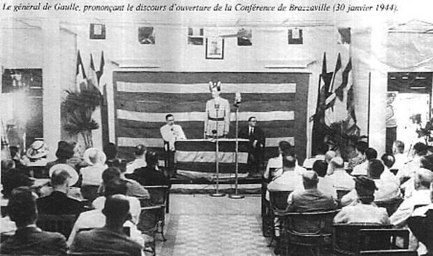 Шарль де Голль открывает Браззавильскую конференцию, 1944.jpg