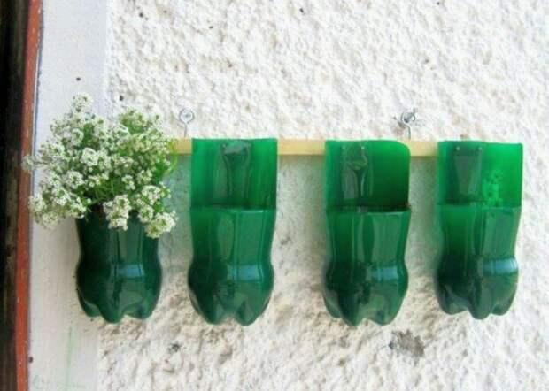 Подвесные горшки бутылка, пластик
