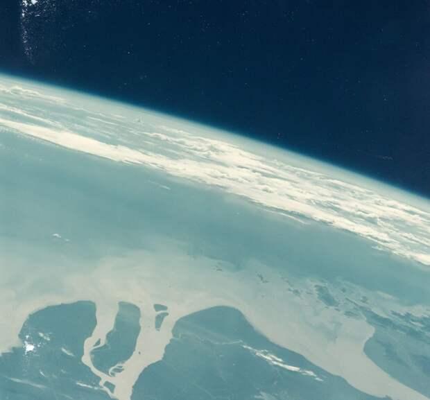 39. 1965, август. Китай, река Янцзы из космоса во время полета «Джемини»-5