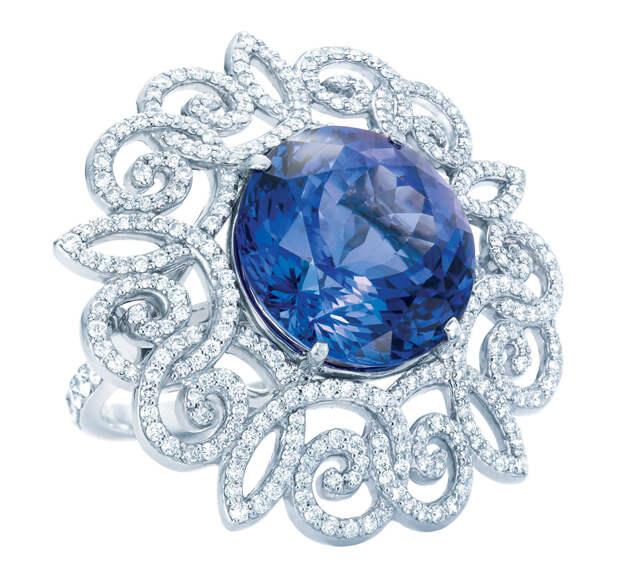 Tiffany Anniversary ring with a tanzanite,