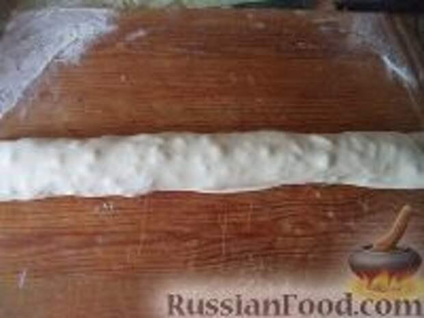 Фото приготовления рецепта: Лепешки с зеленым луком - шаг №7