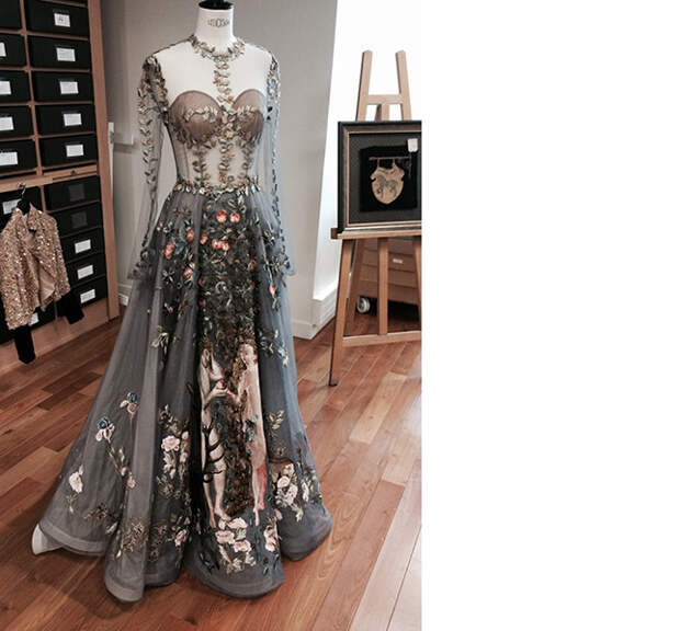 Платье Le Jardin d'Eden, Valentino Couture, весна 2014