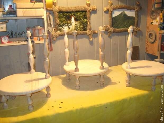 Мужской МК от Владимира Храпова - Деревянная этажерка-подставка для цветов своими руками (очень подробный - много фото)