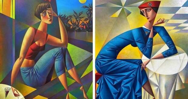 Полные соблазна картины русского художника-авангардиста Георгия Курасова