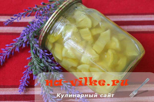 Кабачки под ананасы