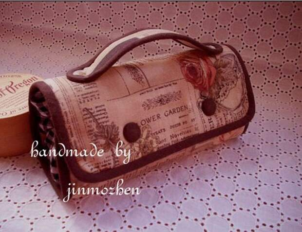 Картика дорожная сумочка-косметичка мастер-класс