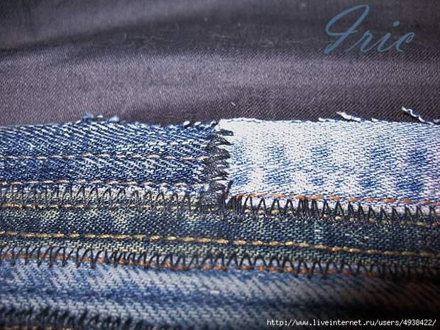 коврики из джинсовых швов  своими руками