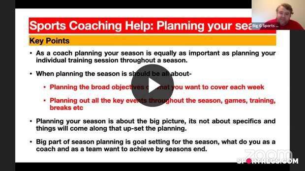 Sports Coaching Help: Planning the season