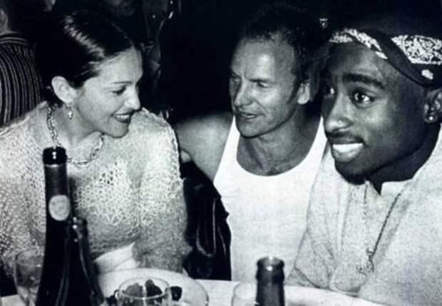 Мадонна Стинг и Тупак общаются во время вечеринки интересно, история, фото