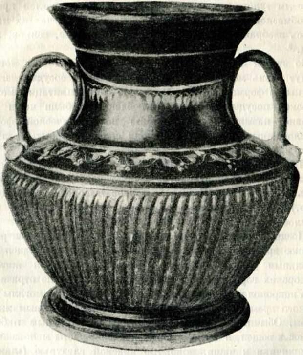 Чернолаковая ваза. III в. до н. э. (Эрмитаж).