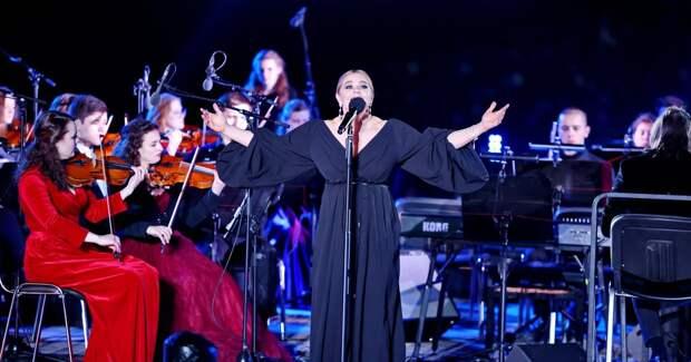 Пегова и Безруков выступили на концерте на «Байконуре»