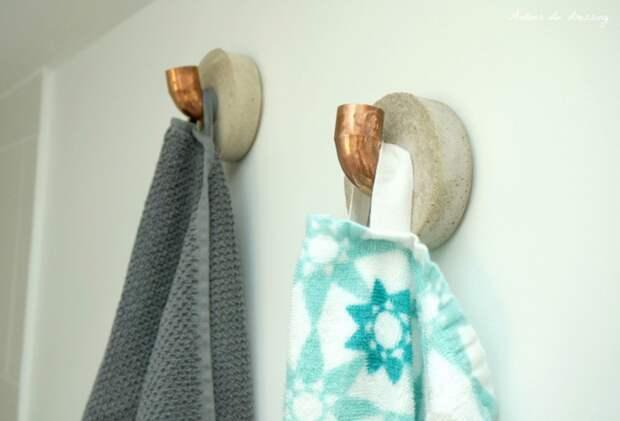 Вешалки - крючки в ванную diy
