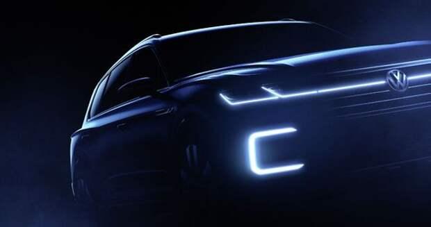 Volkswagen покажет в Пекине большого брата Tiguan GTE