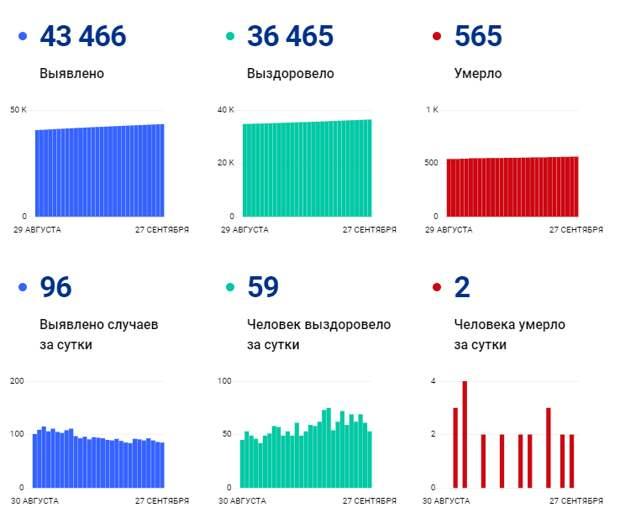 Коронавирус в Томской области: за сутки умерло два человека