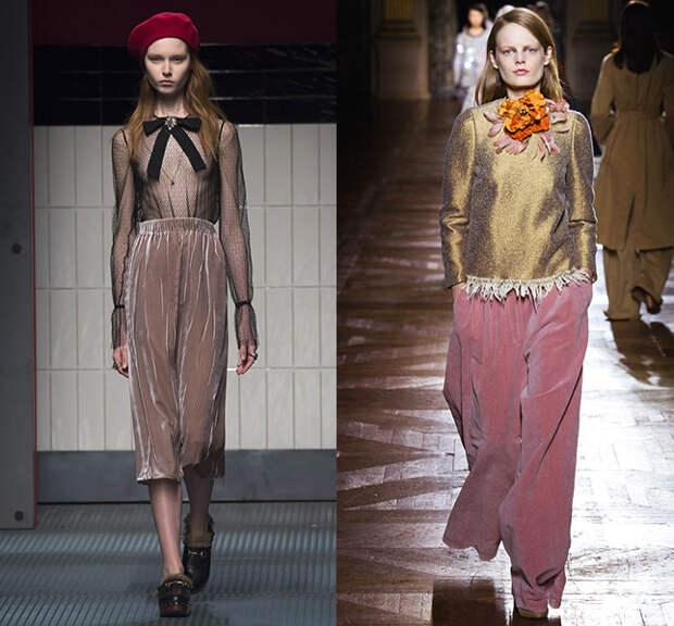 Слева — Gucci, справа — Dries Van Noten
