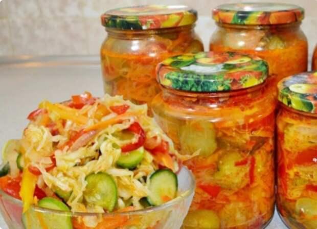 Вкусный салат на зиму «Один к одному». Отлично хранится!