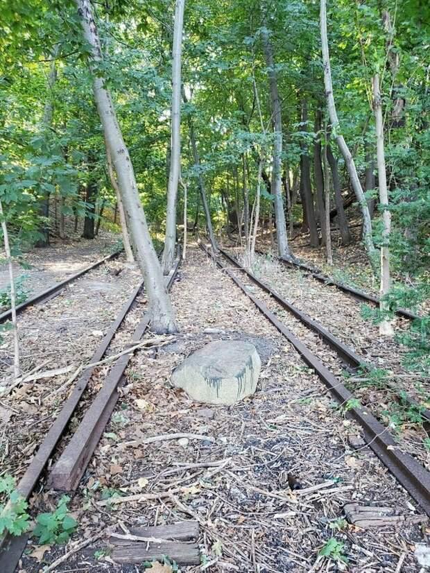 Следы старой железной дороги