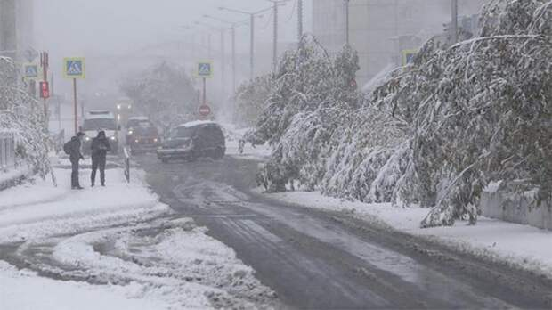 Жители Норильска встретили зиму в середине сентября