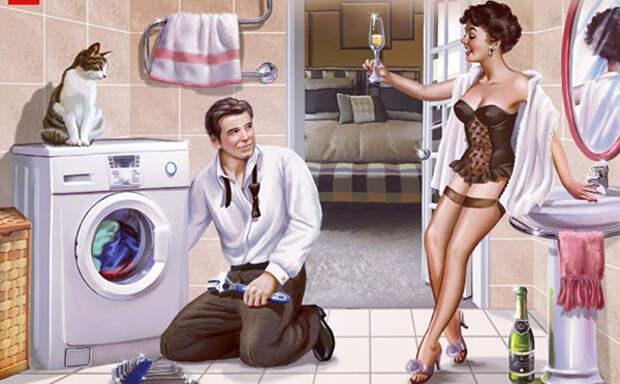 """Муж на час""-как способ найти женщину одинокому мужчине..."