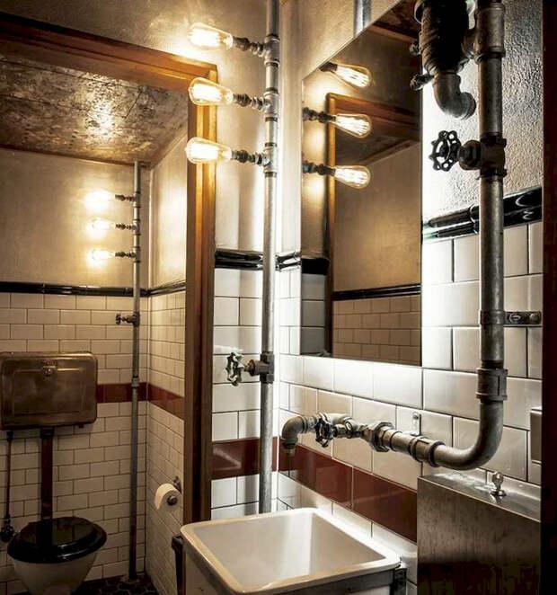 Как спрятать трубы в ванной, на кухне и в других помещениях: все виды коммуникаций